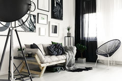 Kanapa i krzesło Obrazy Royalty Free
