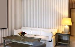 kanapa lampowy biel Obraz Royalty Free