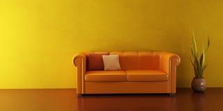 kanapa lounge skórzany pokój