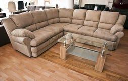 kanapa narożnikowy stół zdjęcie royalty free