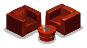 kanapa wektor czerwony wektor Fotografia Stock