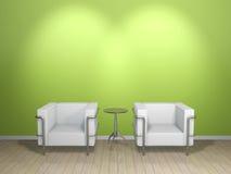 kanapa zielony stół Zdjęcia Stock