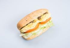 kanapka lub smakowita jajeczna kanapka na tle Zdjęcie Royalty Free