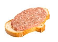 kanapka odosobniony biel Obrazy Stock