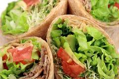 kanapka organicznie opakunki Fotografia Stock