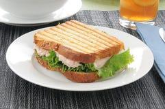 kanapka piec na grillu tuńczyk Obraz Stock