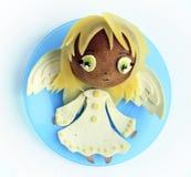 Kanapka w postaci anioła Fotografia Royalty Free