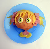 Kanapka w postaci dziewczyny ` s głowy Obraz Royalty Free