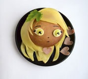 Kanapka w postaci głowy dziewczyna Obrazy Stock