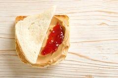 Kanapka z arachidu masłem Zdjęcia Royalty Free