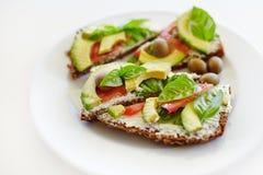 Kanapka z avocado Zdjęcie Stock