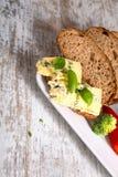 Kanapka z Roquefort serem i ciemnym chlebem Obrazy Royalty Free