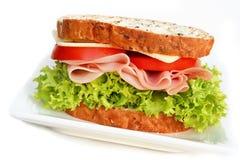 kanapka z szynką Fotografia Stock