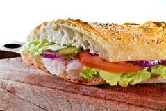 kanapka z szynką Obrazy Royalty Free