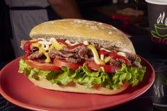 Kanapki mięso, Milanese Argentyna Obraz Royalty Free