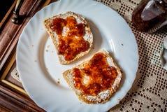kanapki wznosić toast Obraz Stock