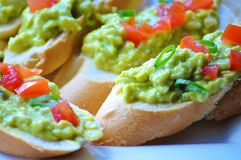 Kanapki z avocado pastą Obraz Royalty Free