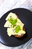Kanapki z Roquefort serem Obraz Stock