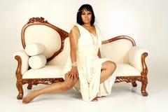kanapy kobieta Fotografia Royalty Free