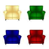 Kanapy krzesło Obrazy Royalty Free
