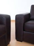 kanapy szczegółu skóry kanapy dwa fotografia royalty free