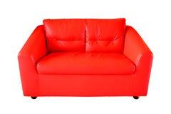 kanapy tła pojedynczy czerwony white Fotografia Royalty Free