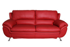 kanapy tła pojedynczy czerwony white Obrazy Stock