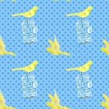 Kanariefågel-fågel Vektor Illustrationer