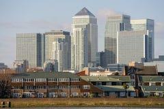 kanariefågelengland Europa london uk hamnplats Royaltyfri Fotografi