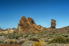 Kanarische Inseln, Teneriffa, Vulkan Teide Schaukeln Sie den Finger des Gottes Lizenzfreies Stockbild