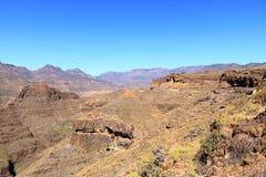 Kanarischer Gebirgszug Gran nahe Cruz Grande- und San-Bartolome De Tirajana Berge in Gran Canaria, Spanien lizenzfreie stockfotografie
