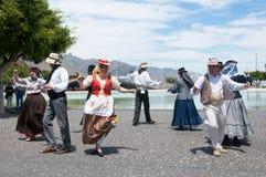 Kanarischer traditioneller Tanz, Teneriffa, Spanien Lizenzfreie Stockfotografie