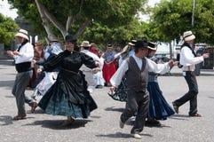 Kanarischer traditioneller Tanz, Teneriffa, Spanien Stockfotografie