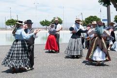 Kanarischer traditioneller Tanz, Teneriffa, Spanien Stockbilder