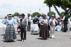 Kanarischer traditioneller Tanz, Teneriffa, Spanien Lizenzfreies Stockfoto