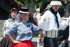 Kanarischer traditioneller Tanz, Teneriffa, Spanien Stockbild