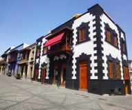 Kanarisches malerisches Haus, Spanien Stockbilder