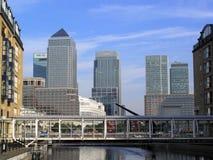 kanarowy docklands London nabrzeże Obrazy Royalty Free