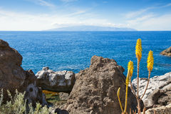 kanarowy Gomera wysp losu angeles Tenerife widok Zdjęcia Stock