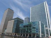 Kanarowy London Nabrzeże góruje Obrazy Royalty Free