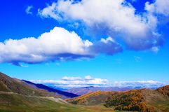 Kanas of autumn Spectacular cloud Stock Image