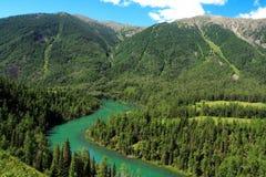 Kanas lake Stock Image