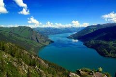 Kanas Lake. Summertime at Kanas Lake, Xinjiang Province, China Stock Photos