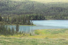 Kanas. The landscape of kanas lake Royalty Free Stock Images
