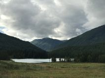 Kanas. The landscape of kanas lake Royalty Free Stock Image