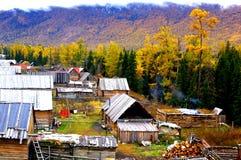 Kanas local-style dwelling houses Stock Photo