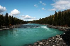 Kanas river Royalty Free Stock Photo
