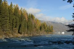 Kanas River in Xinjiang China Stock Photos