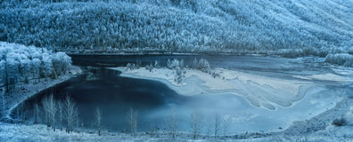 Kanas scenic area in Xinjiang, China. Kanas Kanas Lake, the state 5A class tourist attractions, is in Altai region, Xinjiang of China Northern Burqin county is a Stock Photos