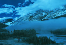 Kanas scenic area in Xinjiang, China. Kanas Kanas Lake, the state 5A class tourist attractions, is in Altai region, Xinjiang of China Northern Burqin county is a Royalty Free Stock Photos